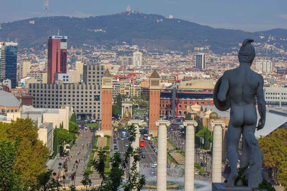 montjuic in barcelona