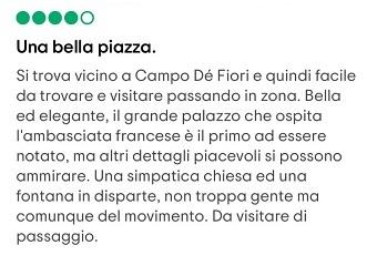 roma piazza farnese recensione