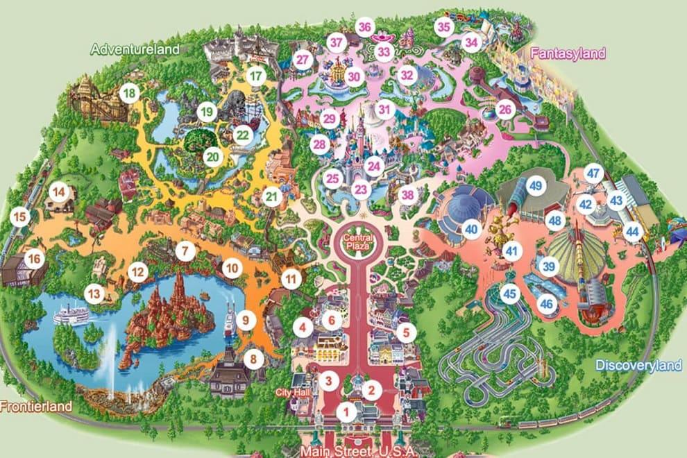 mappa disneyland